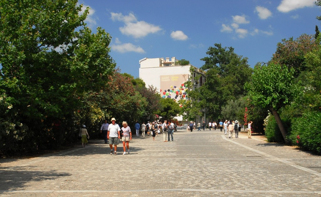 Pedestrian walk by the Acropolis